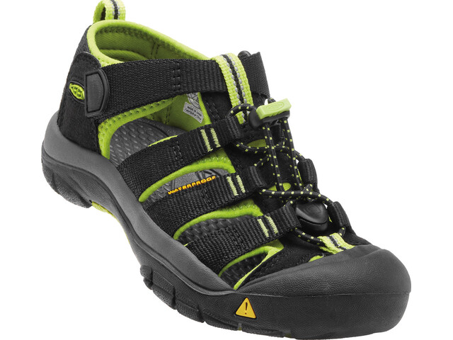 Keen Youth Newport H2 Sandals Black/Lime Green